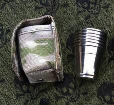 Набор 6 рюмок в камуфлированном чехле мультикам