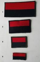 Нашивка красно-черный флажок