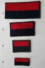 Купить Нашивка красно-черный флажок  в интернет-магазине Каптерка в Киеве и Украине