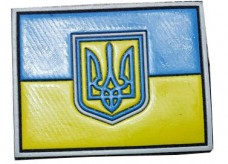 Патч флаг Украина резина