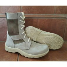 Женские светлые облегченные летние ботинки берцы