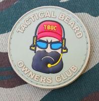 PVC патч Тактическая борода Резиновый шеврон Tactical Beard Khaki