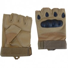 Купить Тактичні рукавички без пальців з накладками Койот в интернет-магазине Каптерка в Киеве и Украине