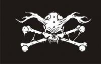Пиратский флаг Демон