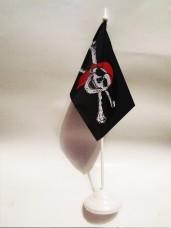 Настільний піратський прапорець з пластиковою підставкою