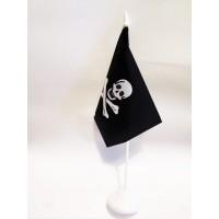 Піратський настільний прапорець череп і кістки