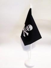 Настільний піратський прапорець з пластиковою підставкою череп і кістки
