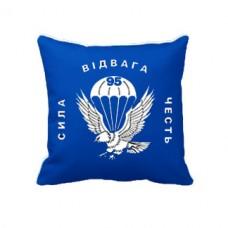 Купить Декоративна подушка 95 Бригада (старий знак синя) в интернет-магазине Каптерка в Киеве и Украине