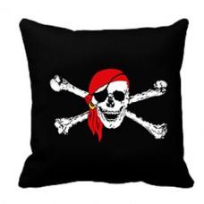 Декоративна подушка Піратський череп в червоній бандані
