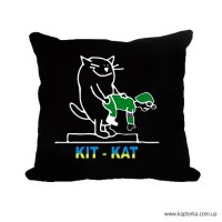 Декоративна подушка КІТ-КАТ (чорна)