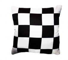 Декоративна подушка Старт-Фініш в клітинку