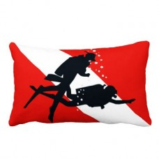 Декоративна подушка 2 дайвери (30х50)