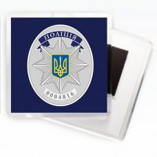 Купить Магнітик Поліція з поліцейським жетоном в интернет-магазине Каптерка в Киеве и Украине