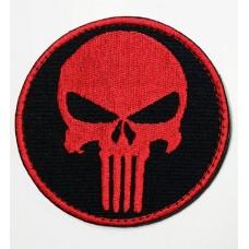 Нашивка Череп Punisher  вышивка