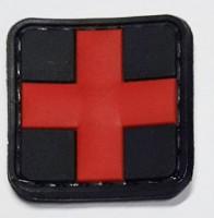 Нашивка Крест Медицина резиновый шеврон с липучкой