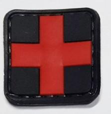 PVC нашивка Крест Медицина резиновый шеврон с липучкой