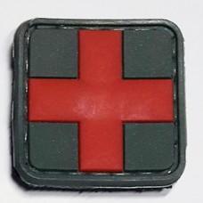 Нашивка Красный Крест резина с липучкой
