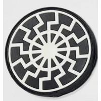 Нашивка Черное Солнце резина черно-белая