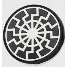 PVC патч Чорне Сонце чорно-білий