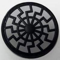 Нашивка Черное Солнце резина черно-серая