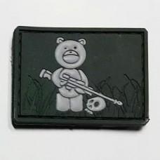 """Нашивка """"Мишка снайпер"""" Teddy Bear PVC олива"""