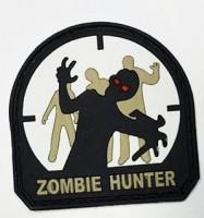 Шеврон Zombie Hunter резина на липучке