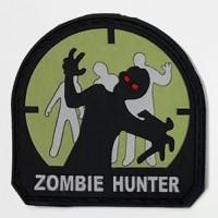 Резиновый шеврон Zombie Hunter черный - зеленый