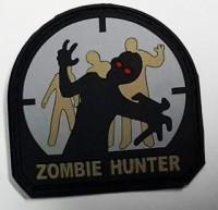 Шеврон Zombie Hunter материал резина на липучке