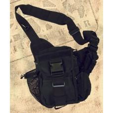Сумка тактична Shoulder Bag deluxe black MFH 30699A