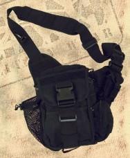 Сумка тактическая Shoulder Bag deluxe black MFH 30699A