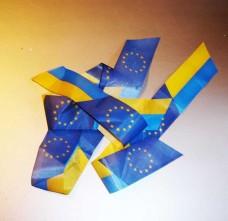 Ленточка Евросоюз Украина 2шт.