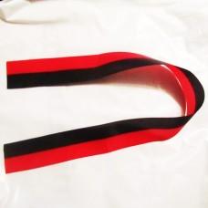 Красно-чёрная ленточка 2шт