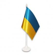 Купить Настольный флажок Украина ЛЮКС в интернет-магазине Каптерка в Киеве и Украине