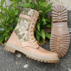 Облегченные ботинки бежевые со вставками пиксель
