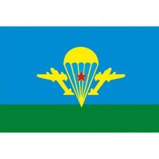 Флаг ВДВ (без надписей, с эмблемой ВДВ и звездой)