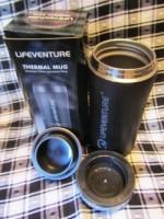 Lifeventure Thermal Mug термостакан цвет черный мат