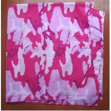 Бандана камуфльована рожева