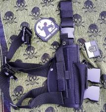 Кобура набедренная пистолетная цвет черный