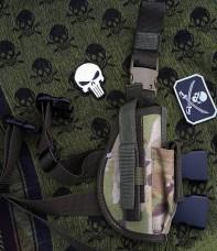 Кобура на стегно пістолетна камуфляж мультикам