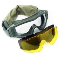 Защитная маска комплект 3 стекла Олива