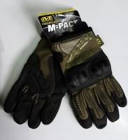 Тактические перчатки с костяшками TAN
