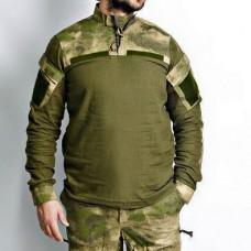 Купить Рубашка UBACS Матеріал Льон Олива Атакс Акція Останній розмір в интернет-магазине Каптерка в Киеве и Украине