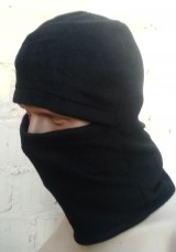 Балаклава флисовая черная. Комфорт холод ** Специальная Цена