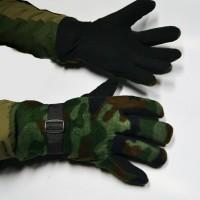 Перчатки флисовые камуфлированные