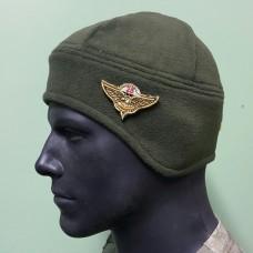 Шапка флисовая подшлемник с нашивкой 25 бригада ВДВ
