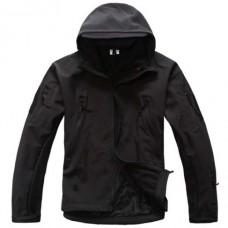 Куртка софтшел з капюшоном Чорна Акція!