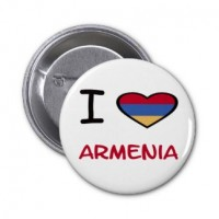 Значок I love Армения