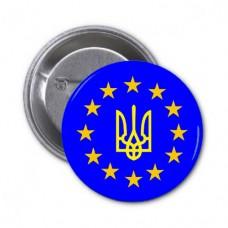 Купить Значок Україна в Євросоюзі в интернет-магазине Каптерка в Киеве и Украине
