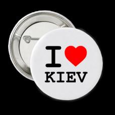 Купить Значок Я люблю Киев в интернет-магазине Каптерка в Киеве и Украине