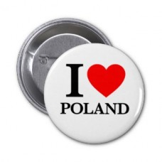 Купить Значок Я люблю Польшу в интернет-магазине Каптерка в Киеве и Украине